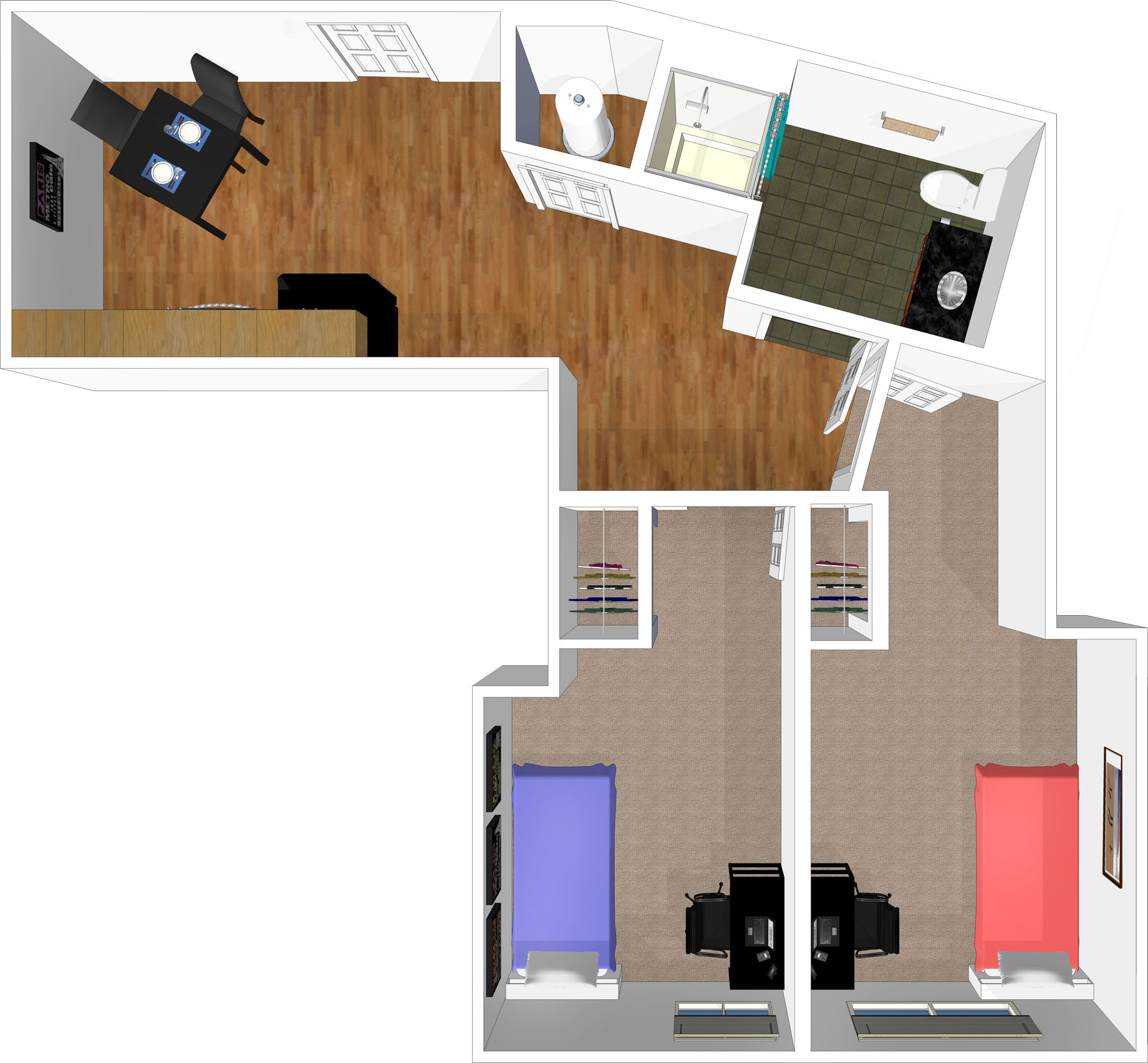 View Two Bedroom Layout