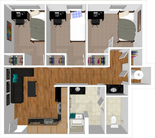 View Three Bedroom Layout Part 40