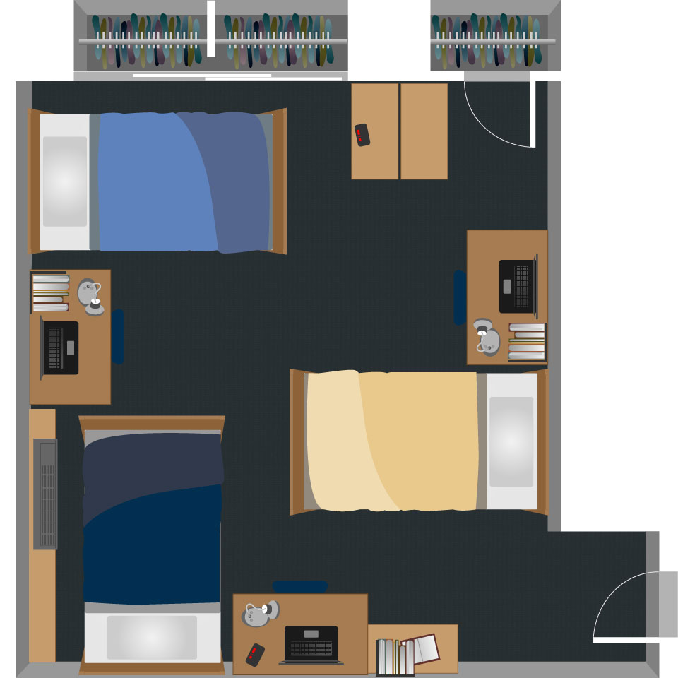 View Triple Room Layout Part 50