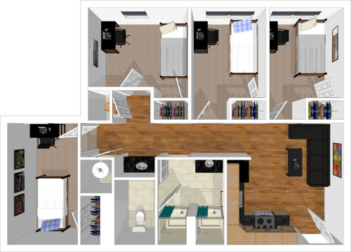 View Four Bedroom Layout Part 72