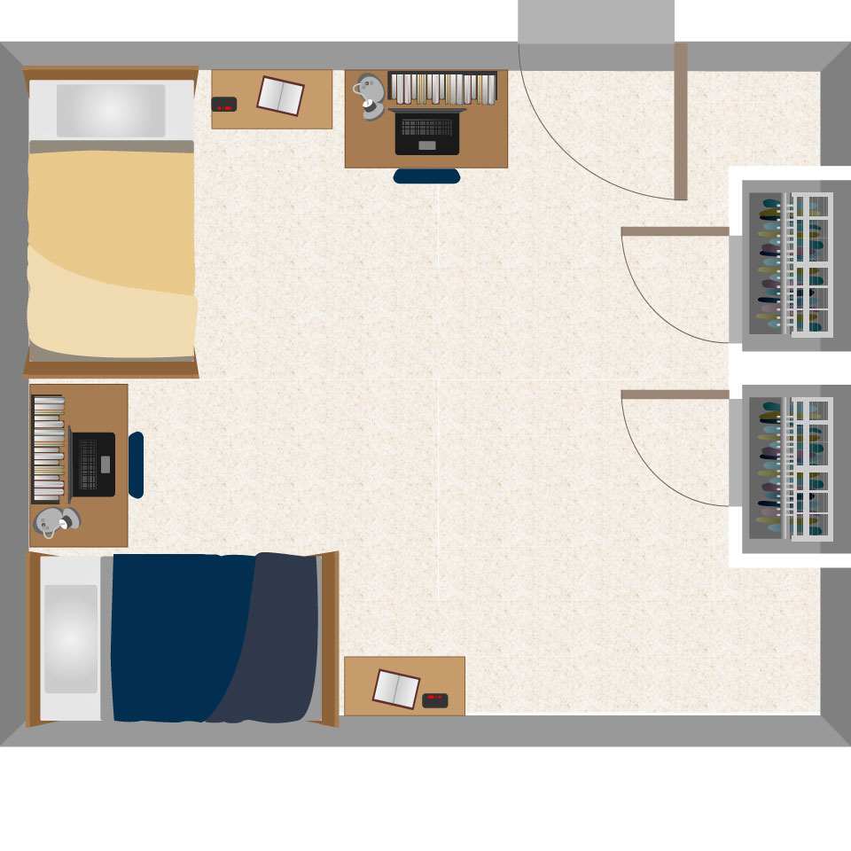 Dadisman hall housing west virginia university for Layout your room
